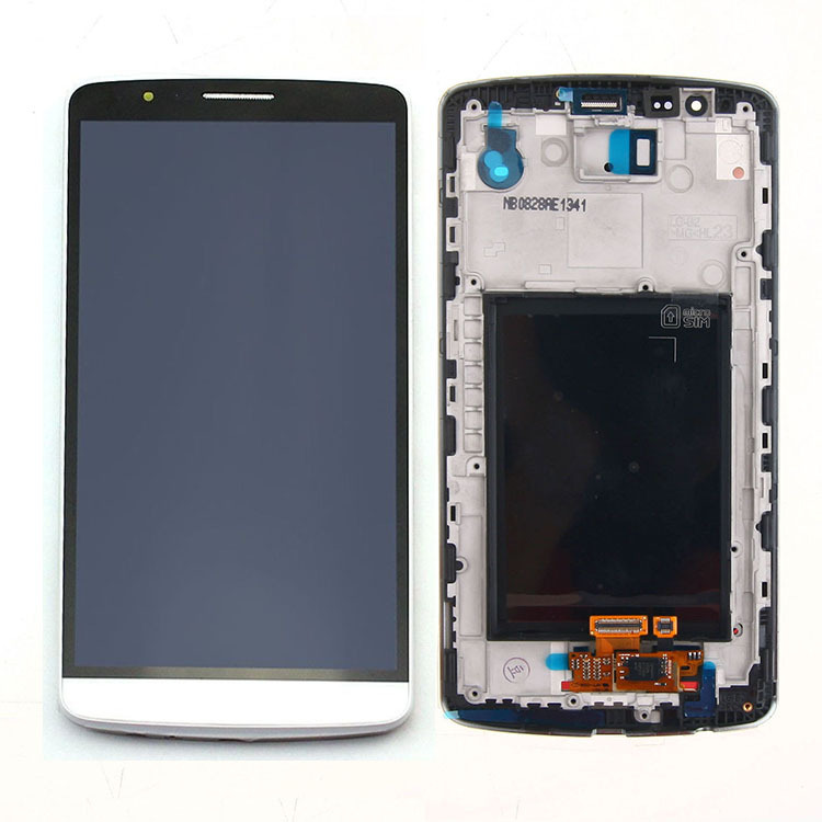 White Part Replacement LCD Display+Touch Screen Digitizer Assembly+Frame for LG G3 D850 D851 D855 VS985 LS990 High Quality