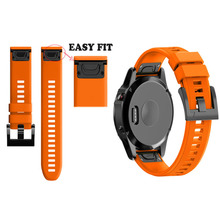Replacement Strap Watchband for for Garmin Fenix 5X for Garmin Fenix 3 3 HR GPS Watch 26mm Silicone Easyfit Wrist Band Strap