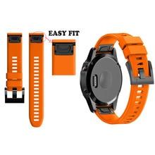 Replacement Strap Watchband for for Garmin Fenix 5X for Garmin Fenix 3 3 HR GPS Watch 26mm Silicone Easyfit Wrist Band Strap