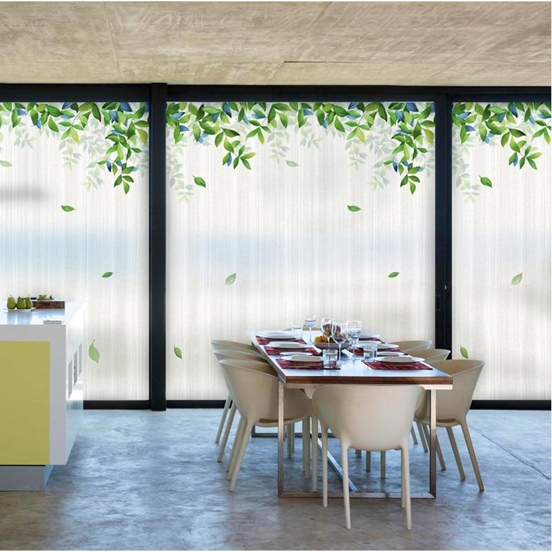 Crépuscule Forêt Fenêtre Autocollants Balcon Fenêtre Chambre