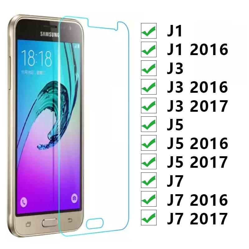 Protective Glass For Samsung J1 J3 J5 J7 2016 2017 Tempered Glas On The Galaxy J 1 3 5 7 1j 3j 5j 7j 6 Screen Protector Film 9h
