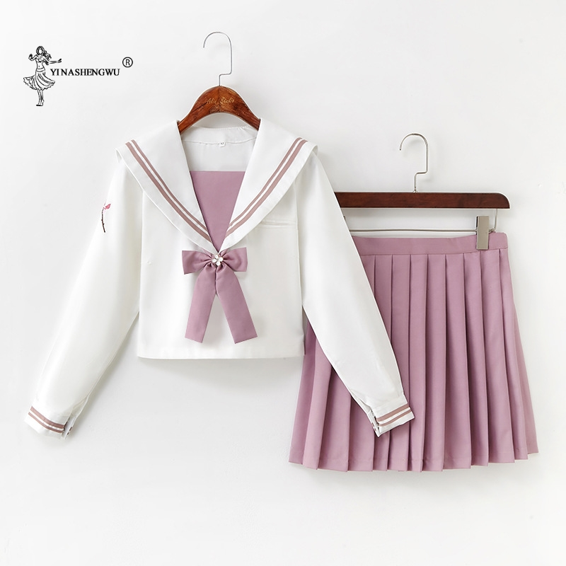 Japanese Pink JK Uniforms College Middle School Students Sailor Uniforms School JK Uniforms Anime Cospaly Students Clothing