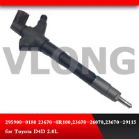 Diesel Fuel Injector 23670 0R100 23670 26070 fit for toyota Corolla Verso T27 2.0D 4D 295900 0180