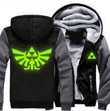USA size Men Women The Legend of Zelda luminous Jacket Sweatshirts Thicken Hoodie Coat Clothing Casual