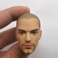 Custom 1/6 Male Head Sculpt Bald head Holly Monk Fit 12 Man Action Figure Body Toys