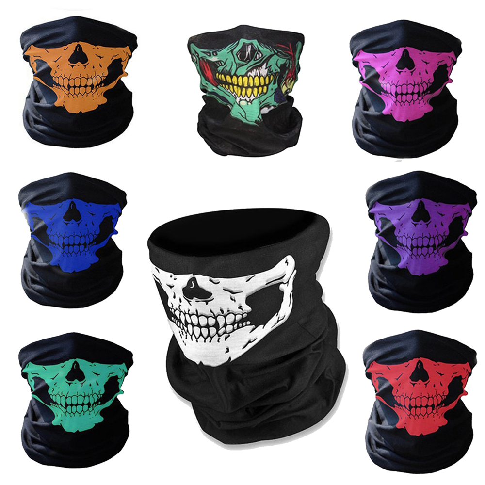 Skull Mask Bandana Bike Bicycle Cycling Helmet Neck Face Mask Half Face Paintball Ski Sport Headband Military Game Masks