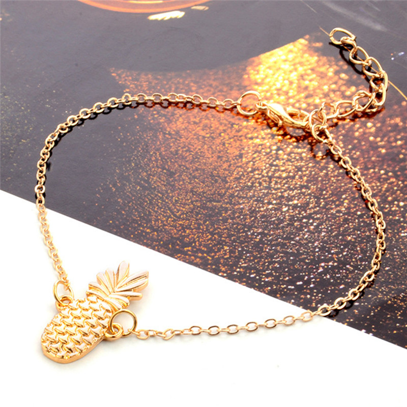 Fruit Pineapple Fine Sexy Anklet Ankle Bracelet Cheville Barefoot Sandals Foot Jewelry Leg Chain On Foot Tobillo For Women