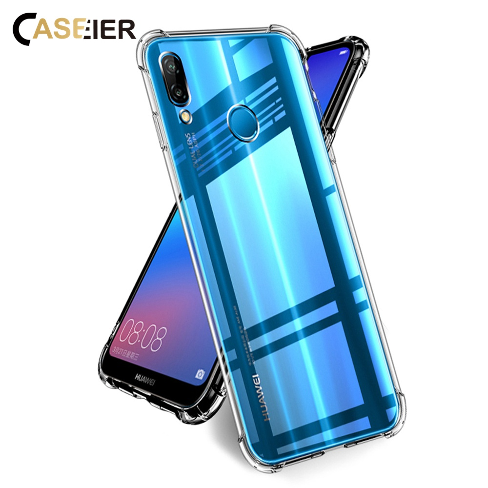 CASEIER Luxury Phone Case For Huawei P20 Lite P10 P8 Soft TPU Shockproof Honor 10 8 9 Accessories