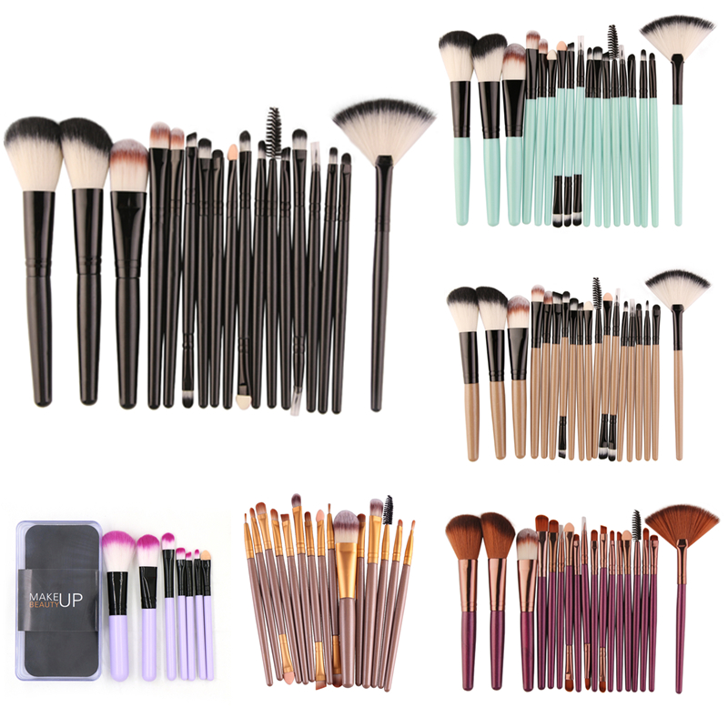 MAANGE 7/15/18 Pcs Makeup Brushes Set Eyebrow Eyeliner Foundation Brush Pincel Maquiagem Powder Blush Professional Muti-shapes