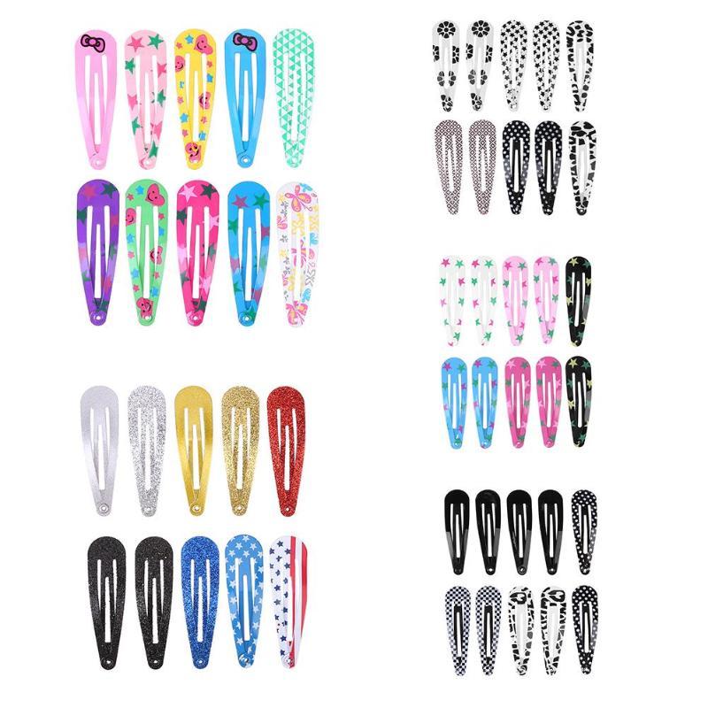 Snap Hair Clip For Kid Solid Cute Metal Hairpins Girls Hair-wear Accessories New