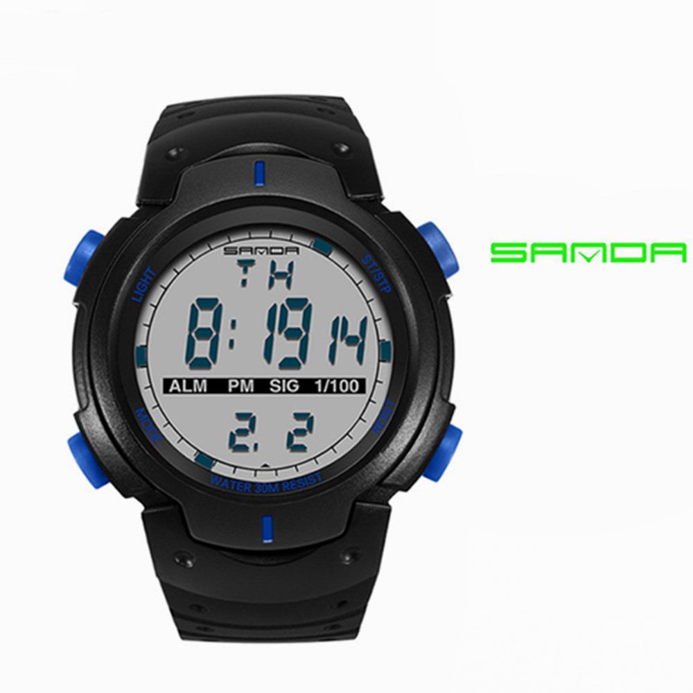 SANDA 269 Fashion Men Sports clocks Waterproof Outdoor Fun Digital Watches Swimming Diving Wristwatch Reloj Hombre Montre Homme