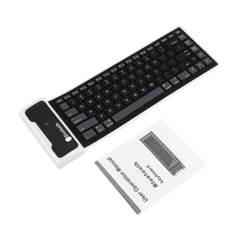 5 шт. новый гибкий силиконовый Беспроводной <font><b>Bluetooth</b></font> клавиатура мини-клавиатура с зарядка через usb кабель Универсальный для портативных ПК iPad