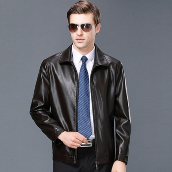 8866 New Fashion Male Spring&Autumn Clothes Business Man Leather Jacket Coat Men's Autumn Overcoat