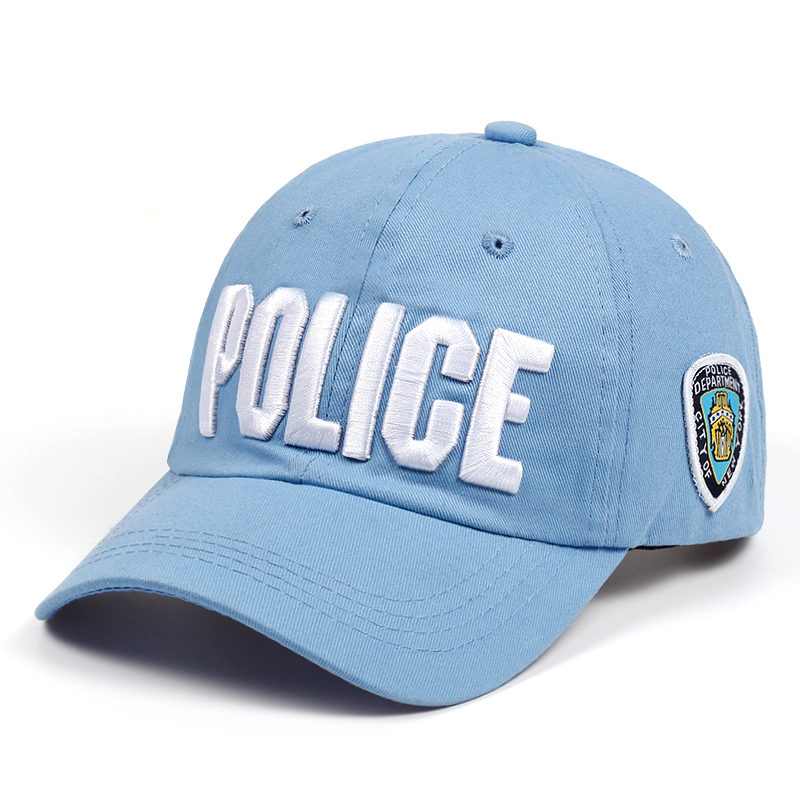 Top Quality POLICE Embroidered Adjustable Baseball Hat Ball Cap Navy Blue F//S