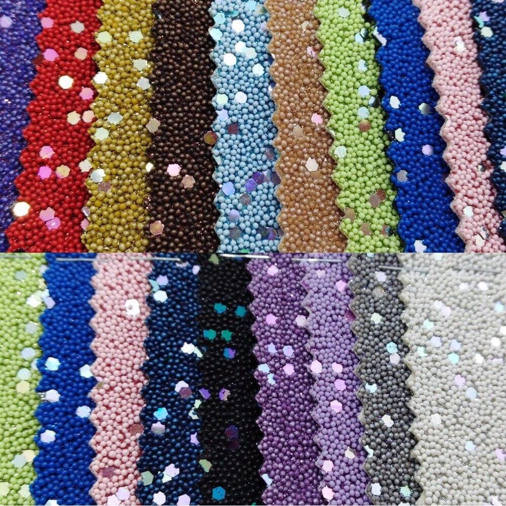 لؤلؤة مكتنزة جليتر الجلود بالحجارة ل diy الانحناء ، الأحذية ، حقائب و الملابس P1634-في جلود اصطناعية من المنزل والحديقة على  مجموعة 1