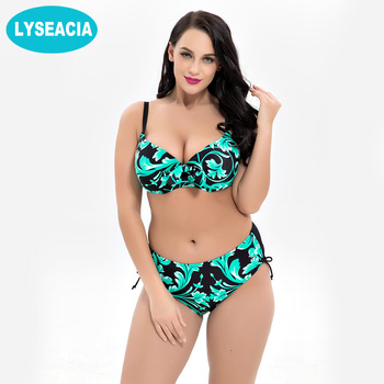Printed Swimsuits of Large Sizes Bikini Set for Women