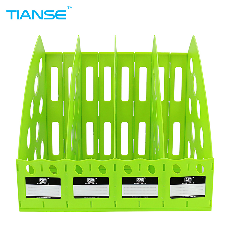 цены TIANSE plastic document trays file holder file organizer for magazine book desk storage office stationery 4 cases file folder