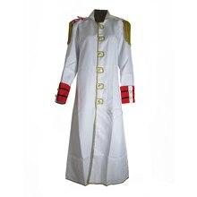 Brdwn Disfraz de soldado marino, Unisex, de una pieza, capa blanca de Cosplay, Anime