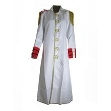 Brdwn One Piece Unisex Marineทหารสีขาวเสื้อคลุมCosplay Animeเครื่องแต่งกาย
