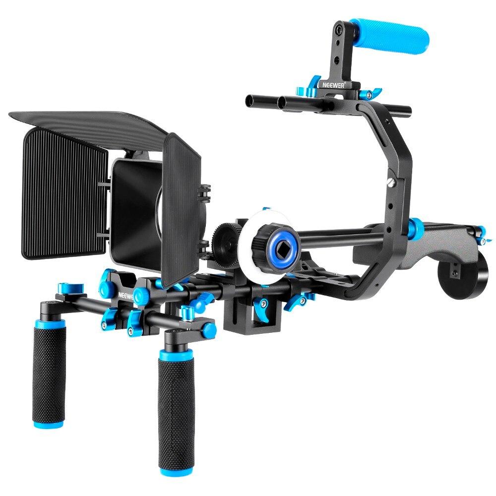 Neewer Film Film système Kit système de fabrication vidéo pour Canon/Nikon/Sony/autre DSLR: (1) support en forme de C + poignée poignée + tige de 15mm + suivre