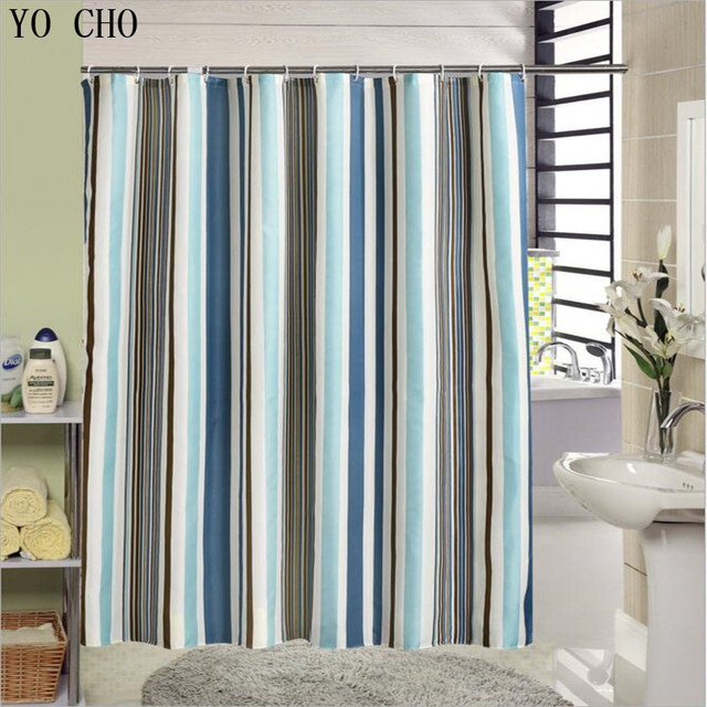 New Fabric Shower Curtain Stripe Bathtub Pattern Modern Bathroom Curtains Bath Product