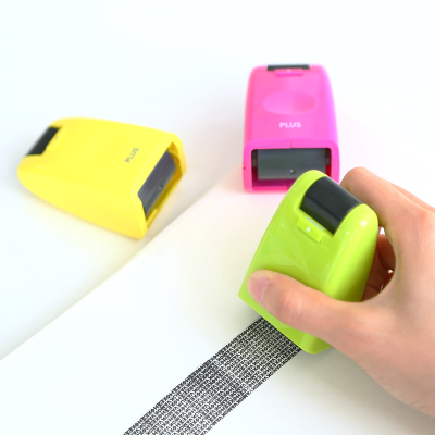 Creative Privacy Stamp Security Seal Japan Messy Code Roller Stamp Portable Mini Stamp For Privacy Protection