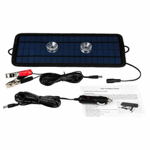 1pc Solar Panel 4.5W 8W 12V Cars Boats Motorcycle Trickle Battery Charger Supplement Charging Solar Power Panel with Accessories