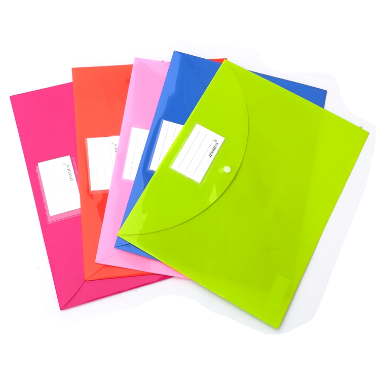 PP Invoice Folder A4 Document File Bag pure color 1 pcs in File Folder from Office School Supplies