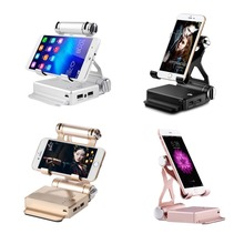 2in1 10400mAh Power Bank Foldable Phone Charger Holder Exter