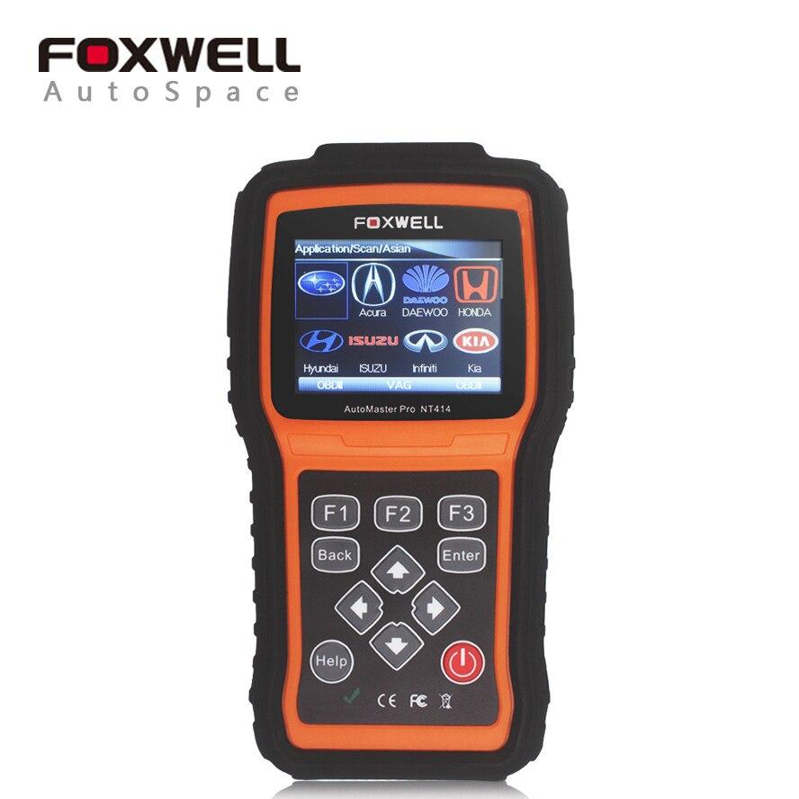 Цена за Foxwell NT414 передачи сканер + ABS + SRS + двигатель мультибрендовый автомобильный инструмент диагностики сканер с EPB масла Свет Сброс