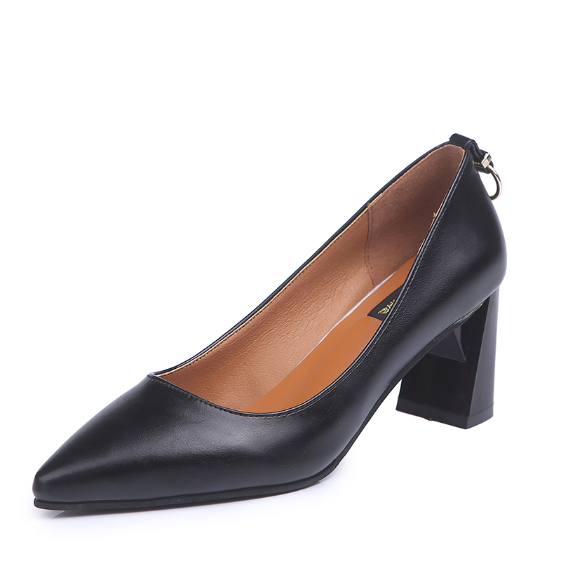 Formelle Foncé Chaussures Dames De Mode Peu Bureau Printemps Nouvelles 2018 Avec Femme En vin Femmes Décoration Pompes Haute Métal Noir Profonde Robe kaki Rouge Talons wF6cSqCy