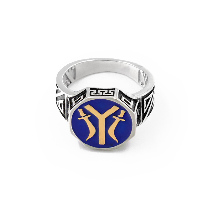 Blue Islam Turkey Ottoman Empire Muslim Allah 316L Stainless Steel Men Ring High Quality Silver Gold Accessories Wholesale(China)