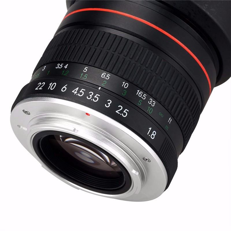 85mm F/1.8 Medium Telephoto Portrait Prime Manual Focus Camera Lens for Canon 10D 760D 700D 600D 70D 60D 7D 6D 5D II III DSLR 8