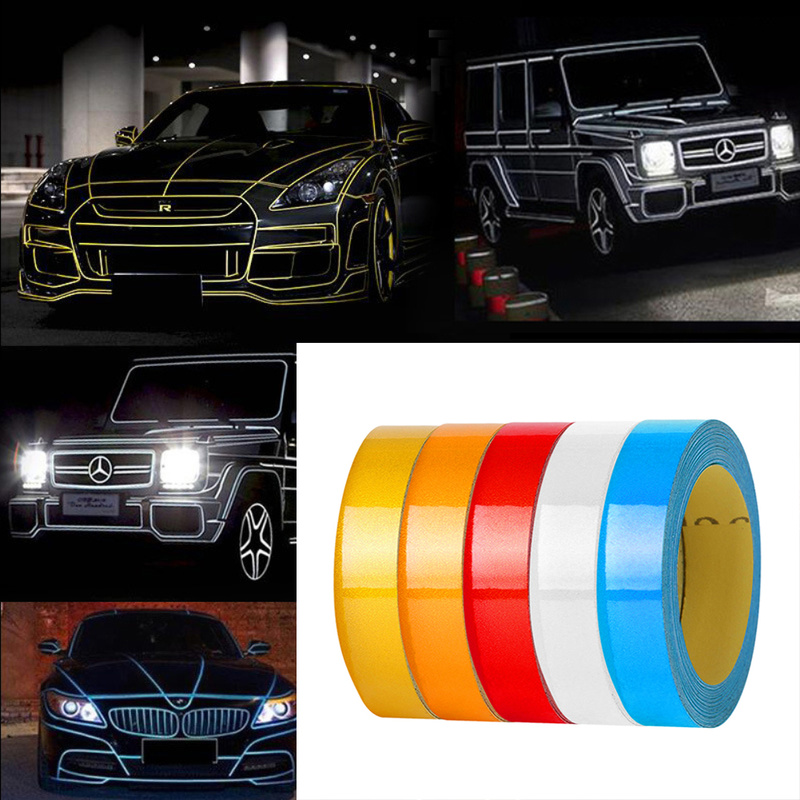 Waterproof Night Car Reflective Sticker DIY Magic Warning Sticker Tape Motor Bicycle Trim Strip Car Stickers Auto Car Accessory