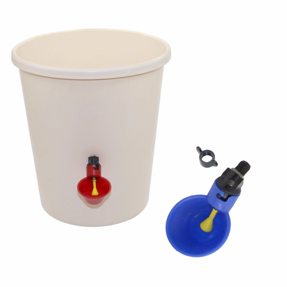 1 Pcs Chicken Drinking Cup Automatic Drinker Chicken Feeder  Plastic Poultry Water Drinking Cups Easy Installation With Screws