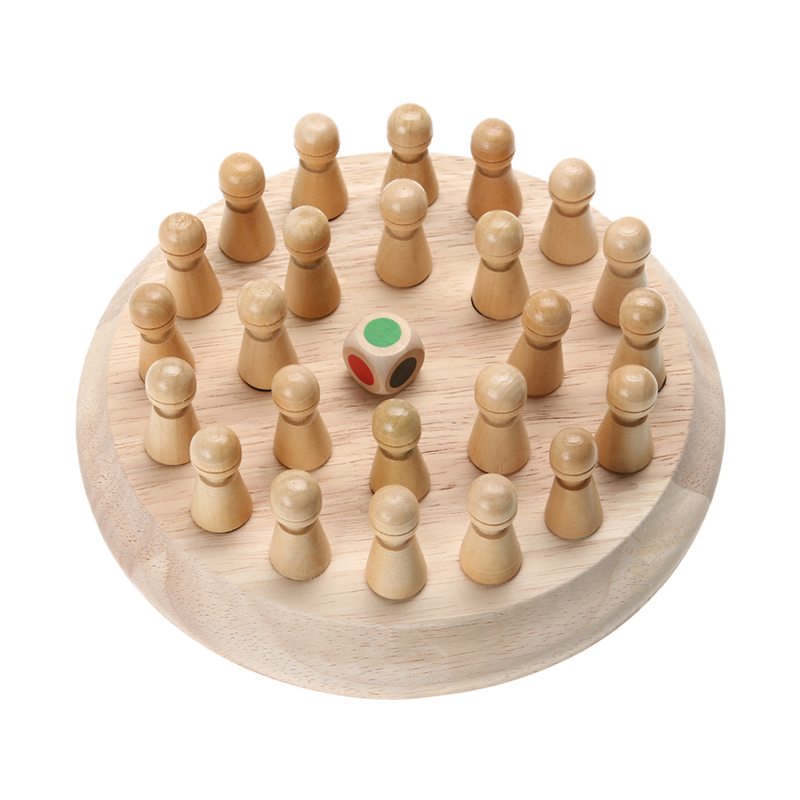 Kids Wooden Memory Match Stick Chess Game Children Early Educational 3D Puzzle Family Party Casual Game