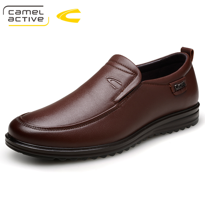 Camel Active Men Casual Shoes Luxury Business Dress Shoes Genuine Leather Slip-On Oxfords Shoes Plus Size 38-44 zapatos 18018 anime attack on titan mini messenger bag boys ataque on titan school bags mikasa ackerman eren shoulder bags kids crossbody bag