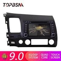 TOPBSNA Android 9,0 Автомобильный DVD плеер для Honda Civic 2005 2006 2007 2008 2009 2010 2011 gps Autoaudio 2 din Автомобильный Радио Стерео Wi Fi