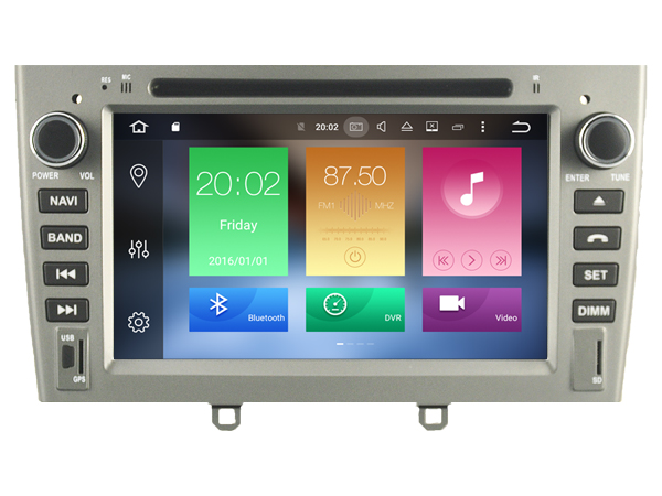Octa 8 Core 2GB RAM 32GB ROM Android 6.0 CAR DVD GPS For PEUGEOT 408 2011-2013 308 navi DVR 3G AUTO DAB OBD car multimedia