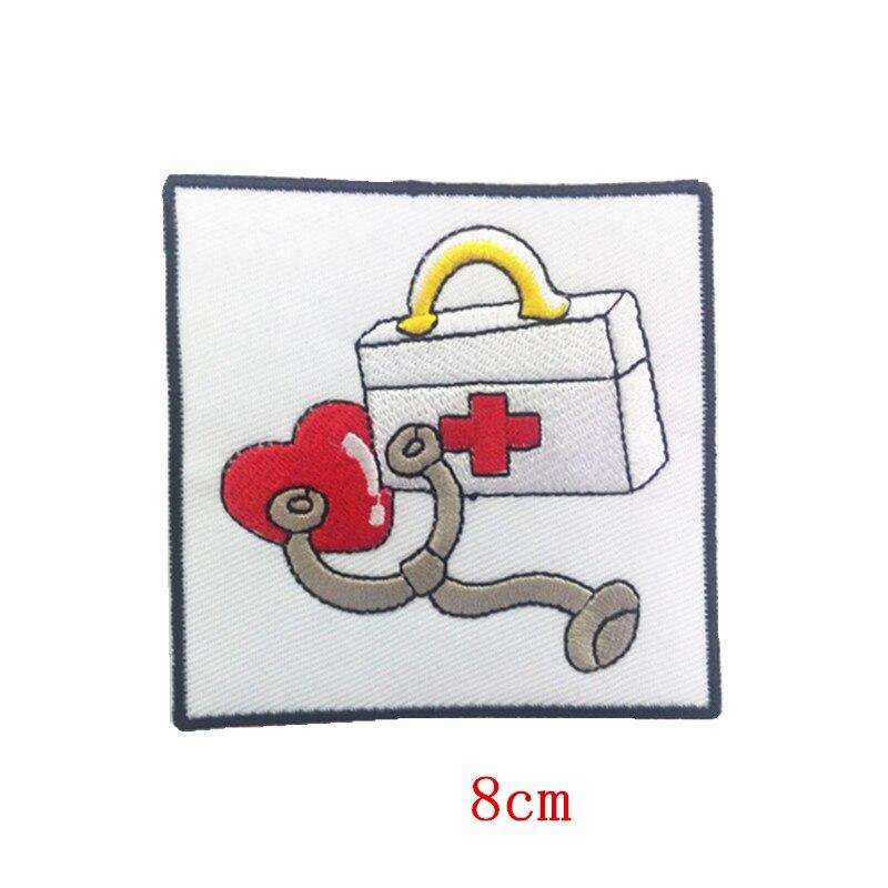 Доктор скорой помощи железный ящик на вышитая аппликация патч первой медицинской помощи комплект с сердцем стетоскоп