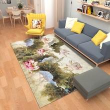 Retro Flower Carpet Living Room Anti-Skid Soft Bedroom Home Decor Rug Study Floor Mat Big Size Sofa Table Rugs