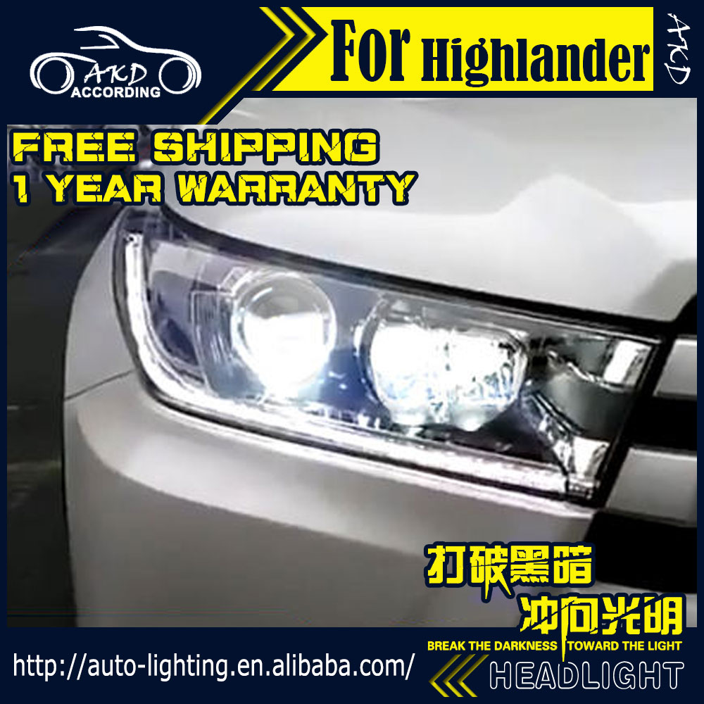 Head-Lamp Highlander Xenon-Beam Kluger for All-New Led-Headlight DRL H7 D2h/Hid/Angel-eye/..