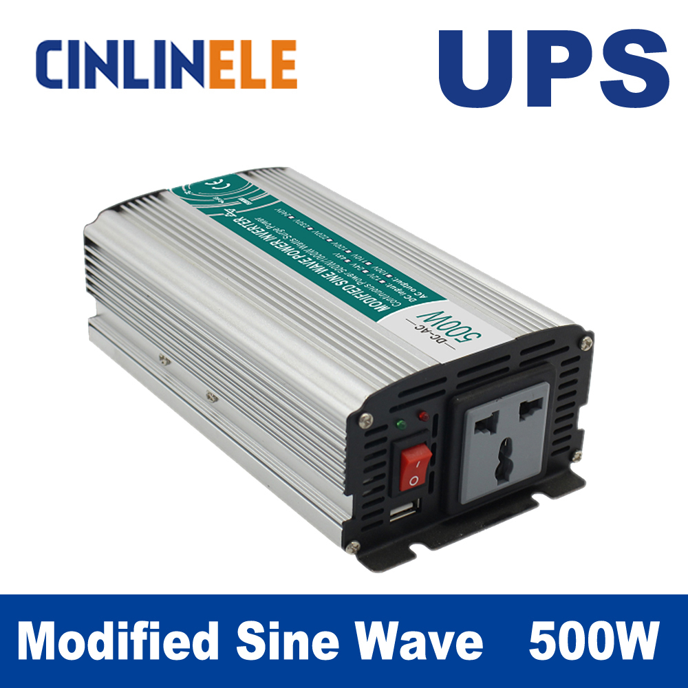 Universal inverter UPS+Charger 500W Modified Sine Wave Inverter CLM500A DC 12V 24V 48V to AC 110V 220V  500W Surge Power 1000W 5000w dc 48v to ac 110v charger modified sine wave iverter ied digitai dispiay ce rohs china 5000 481g c ups