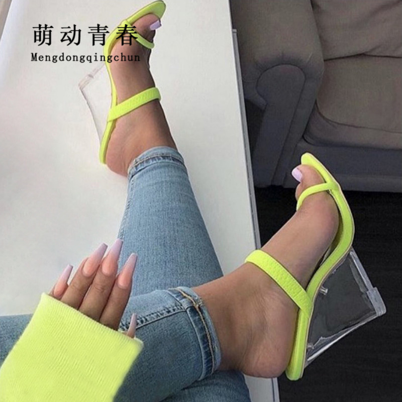 2019 Women Slippers Sandals Open Toe Wedges Heels Casual