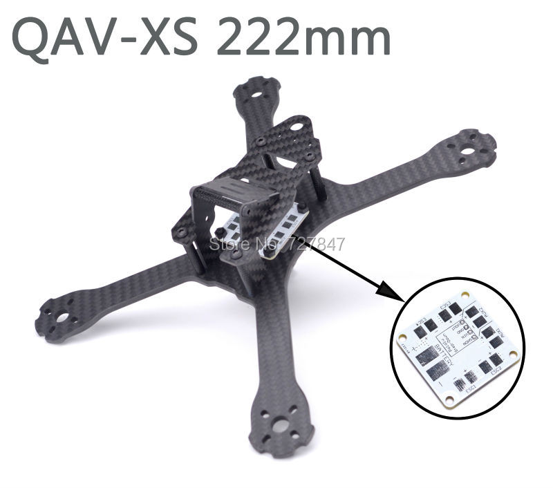 QAV-XS 222 222mm Carbon Fiber Stretch-X Quadcopter Frame Kit 4mm Arm for FPV Racing Drone QAV-X 214 Martian II