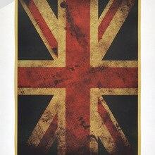 Bandera Nacional Inglaterra pintura Vintage cartel de papel Kraft retro bar Café diseño pared pegatina decoración del hogar 42x30cm ZO-114
