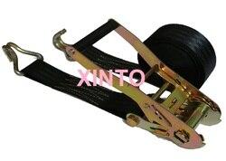 50 MM, 5TX8M--10M preto, pacote cinta catraca amarrar carga amarração grátis truck auto cam fivela correia de transferência sling montagem