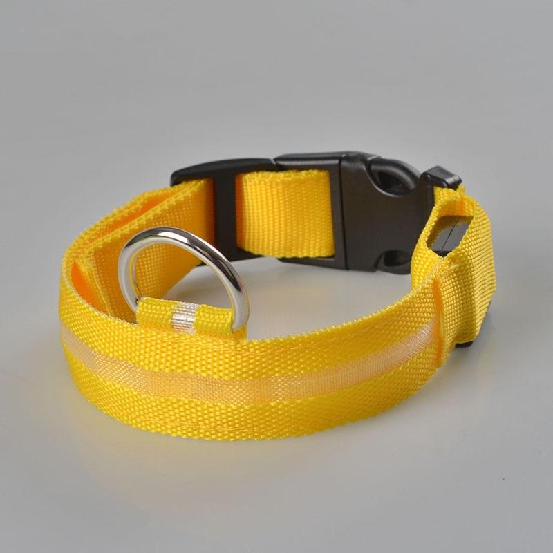 Nylon pet hund krave LED lys nat sikkerhed lys op flash blinkende i - Pet produkter - Foto 6