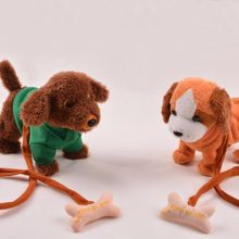 Hot sale funny all kinds of Musical Singing Dancing Walking Electronic Moving Dog Toys For Children Best Gift For Kids(China)