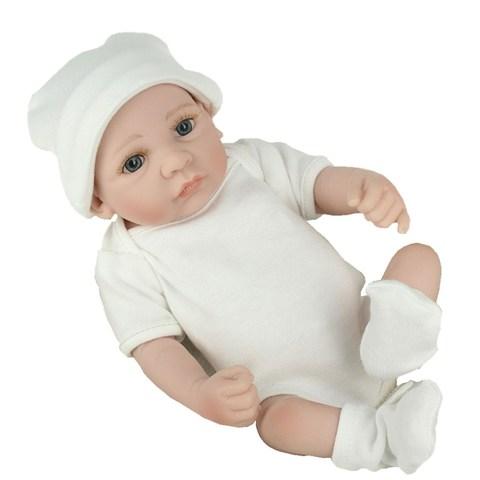 NPKDOLL 10 inch lifrlike bebe toy Mini Reborn Babies Boy Realistic Full Vinyl Handcraft Newborn Baby Doll Kids Christmas Gift Karachi